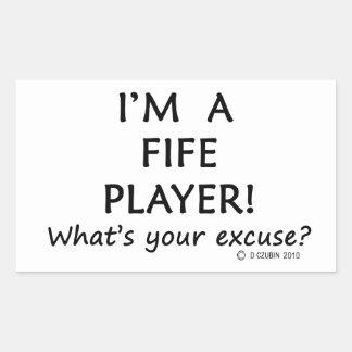 Fife Player Excuse Rectangular Sticker