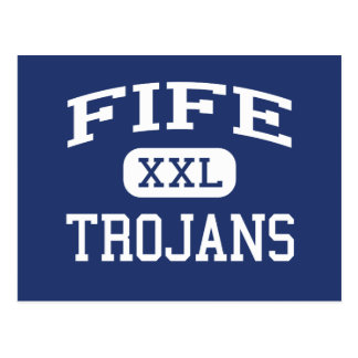 Fife - Trojans - High School - Tacoma Washington Post Card