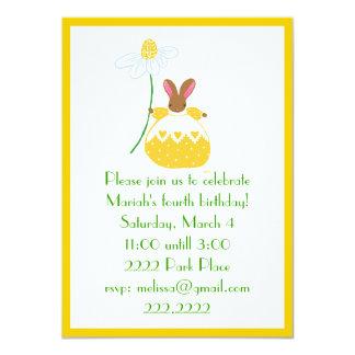 Fifi  Bunny in yellow invitation
