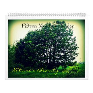 Fifteeen Month Nature Calendar