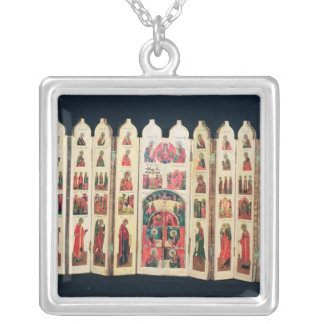 Fifteen-section icon screen with Life of Christ Personalized Necklace