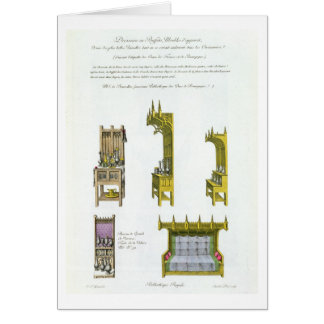 Fifteenth century French and Burgundian furniture, Card