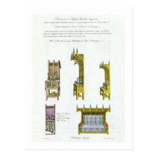 Fifteenth century French and Burgundian furniture, Postcard