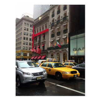 Fifth 5th Avenue New York NYC Christmas Holiday Postcard