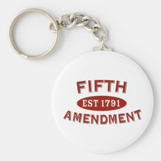 Fifth Amendment Est 1791 Keychain