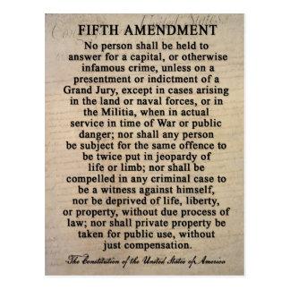 Fifth Amendment Postcards