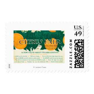 Fifth Annual Tulare County Citrus Fair Promotion Postage