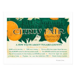 Fifth Annual Tulare County Citrus Fair Promotion Postcard