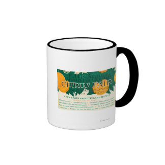 Fifth Annual Tulare County Citrus Fair Promotion Ringer Coffee Mug