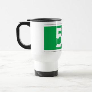 Fifth Av. (Old), New York Street Sign Travel Mug