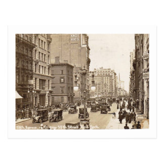 Fifth Ave., 38th St., New York City Vintage Postcard
