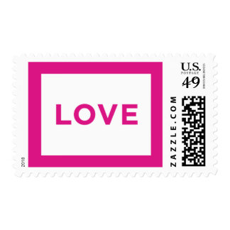 Fifth Ave - Love, Pink Postage Stamps