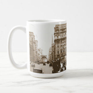 Fifth Avenue and New York City Public Library 1908 Coffee Mug