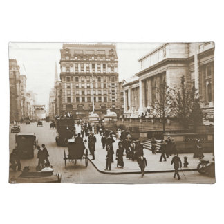 Fifth Avenue and New York City Public Library 1908 Placemat