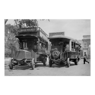 Fifth Avenue Buses, 1913 Poster