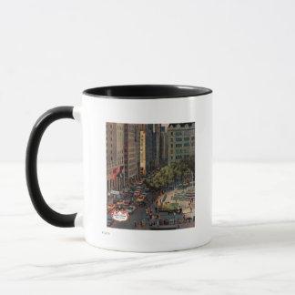 Fifth Avenue by John Falter Mug