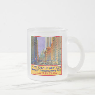 Fifth Avenue Frosted Glass Coffee Mug