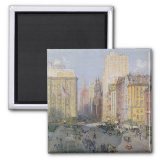 Fifth Avenue, New York, 1913 2 Inch Square Magnet