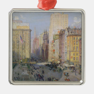 Fifth Avenue, New York, 1913 Metal Ornament