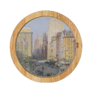 Fifth Avenue, New York, 1913 Round Cheese Board