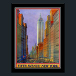 """Fifth Avenue New York Art Deco Vintage Poster<br><div class=""""desc"""">Fifth Avenue New York Art Deco Vintage Poster art deco, retro images, vintage illustrations, vintage retro, nouveau, deco image, vintage travel, france travel, paris travel, french, vintagestore, vintage, restaurant drco, retro, travel, vintage images, victorian, victorian images, vintage graphics, popular, d&#233;cor styles, retro style, cool, modern, country, landscapes, vintage store, posters...</div>"""