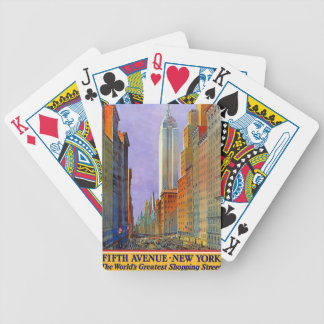 Fifth Avenue, New York Bicycle Playing Cards