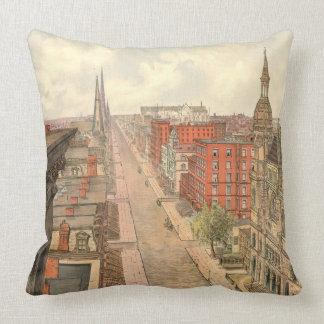 Fifth Avenue New York City 1879 Throw Pillow
