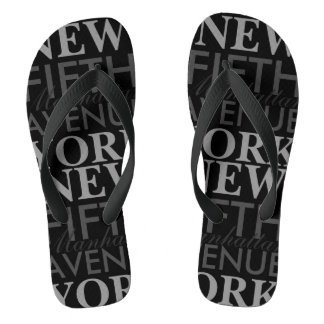 Fifth Avenue New York Flip Flops