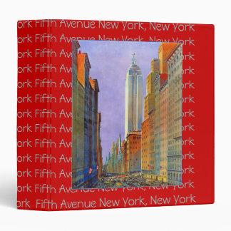Fifth Avenue New York great postcard album Binder
