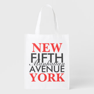Fifth Avenue New York Grocery Bag