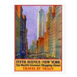 Fifth Avenue - New York Postcard