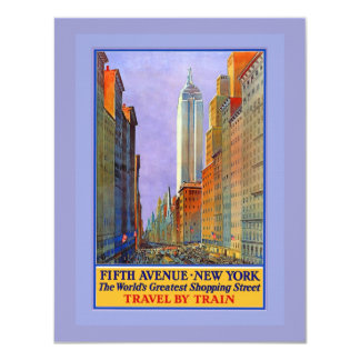 Fifth Avenue New York Worlds Greatest Shopping St. Card