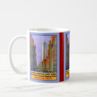 Fifth Avenue New York Worlds Greatest Shopping St. Coffee Mug