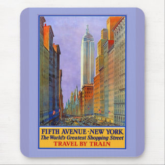 Fifth Avenue New York Worlds Greatest Shopping St. Mouse Pad