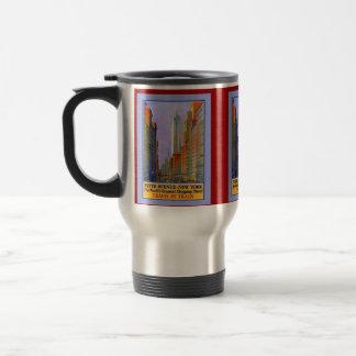 Fifth Avenue New York Worlds Greatest Shopping St. Travel Mug