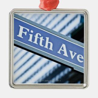 Fifth Avenue Square Metal Christmas Ornament