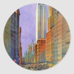 Fifth Avenue Round Stickers