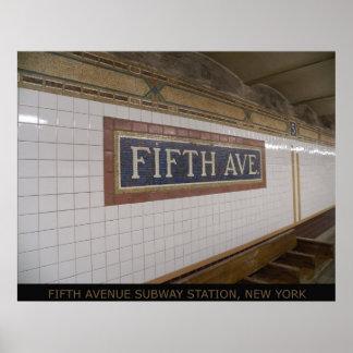 Fifth Avenue Subway Station NYC Canvas Print 35 b