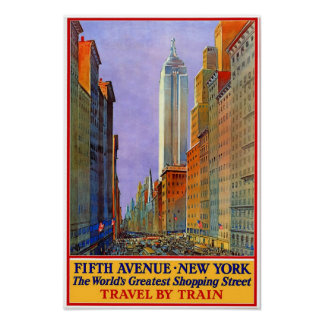 Fifth Avenue Vintage Poster