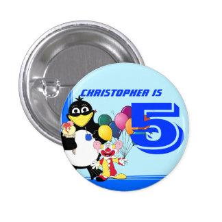 Fifth birthday pinback button