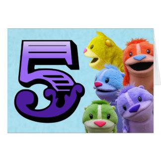 Fifth Birthday Card