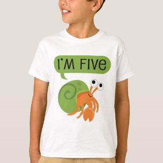Fifth Birthday Hermit Crab T-Shirt