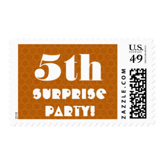 Fifth Birthday Party Big Surprise Gold W1247 Stamps