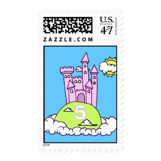 Fifth Birthday Princess' Castle Stamp