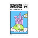 Fifth Birthday Princess' Castle Stamp