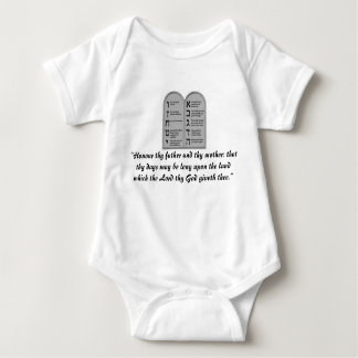 Fifth Commandment Infant Outfit Jewish Baby Infant Creeper