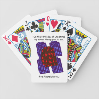 Fifth Day Redneck Christmas Bicycle Playing Cards