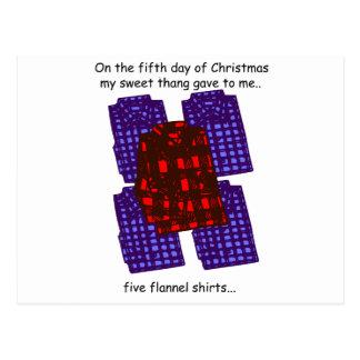 Fifth Day Redneck Christmas Postcard