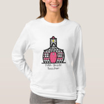 Fifth Grade Houndstooth Schoolhouse T-Shirt