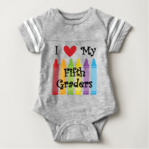 Fifth grade teacher2 baby bodysuit